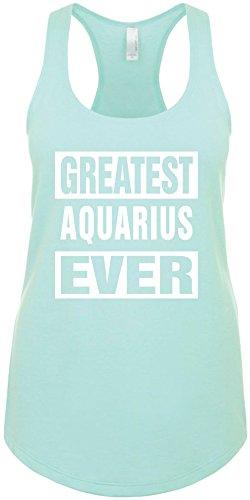 Junior's Funny Tank Top Size M (Greatest Aquarius Ever) Ladies Shirt (Aquarius Tank)