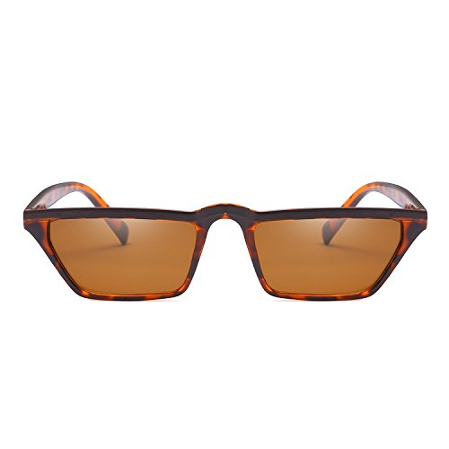 Eye Flat Sunglasses Retro Shade Eyewear Small Women Leopard Fashion Vintage Top Cat w5Owx0IX