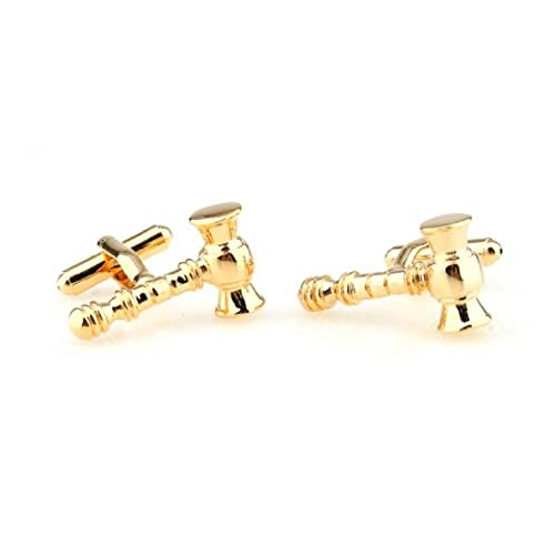 MRCUFF Gavel Judge Lawyer Mason Law Pair Cufflinks in Presentation Gift Box /& Polishing Cloth