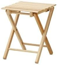 Amazon De Ikea Massiver Holz Hocker Faltbar Hallfred Buche