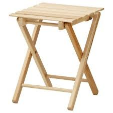 Stupendous Ikea Solid Wood Stool Foldable Hallfred Beech Amazon Co Uk Ncnpc Chair Design For Home Ncnpcorg