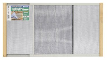 Marvin Adjustable Window Screen 15'' Tall, 37''W, Extends From 21'' To 37''W Steel Charcoal Extends From