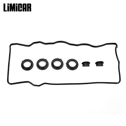 LIMICAR Valve Cover Gasket Set VC2005 Compatible with 1992-1997 Toyota Camry 1990-1999 Toyota Celica 1991-1995 Toyota MR2 2.0L 2.2L 3SFE ()