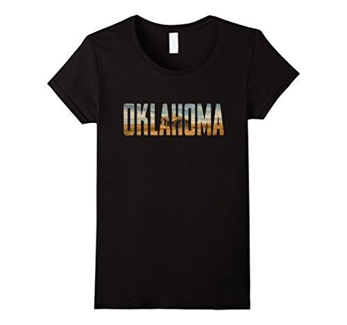 Womens Cool Design  Oklahoma T Shirt Medium Black