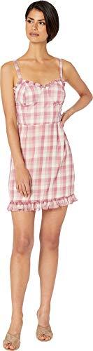 WAYF Women's Lockport Bustier Mini Dress Mauve Checker Small ()