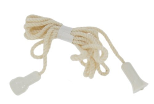Leviton 8010 3 Foot Cord Assembly With Tassel and Connector, White