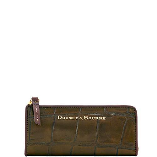 Croco Clutch Collection (Dooney & Bourke City Croco emb Leather Zip Clutch Olive YX155OL)