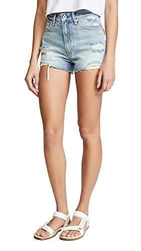 Rag & Bone/JEAN Women's Justine Shorts, Tab, Blue, - And Rag Bone Clothes