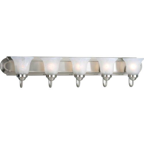 Progress Lighting P3055-09 5-Light Bath Bracket, Brushed Nic