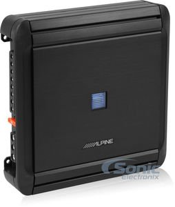 Alpine MRV-F300 4-Channel Car Amplifier, 50 Watts RMS x 4 (Alpine 6x9 Covers)