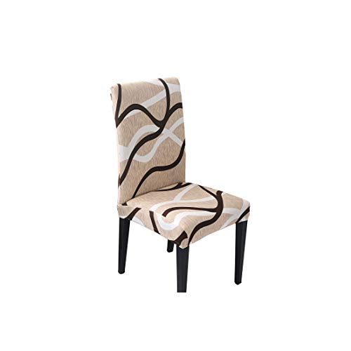 Flower Printing Chair Covers Spandex Stretch Elastic Slipcovers Universal Removable Chair Cover for Kitchen Dining Room Banquet,9 Stripe,Universal