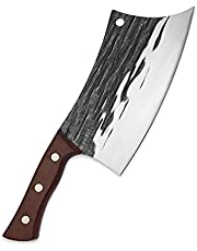8 Inch Butcher Knife Forged Horizontal Kitchen Chef Knife Household Multifunctional Kitchen Cutting Tool Durable Cleaver (Color : 8 inch kitchen knife)
