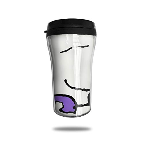 Coffee Tumbler Thank You Snoopy Double Wall Vacuum Travel Cup with Lid 8.5 - Thank You Snoopy