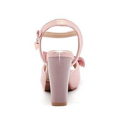LvYuan Mujer-Tacón Robusto-Otro-Sandalias-Oficina y Trabajo Vestido Fiesta y Noche-PU-Rosa Blanco Oro Pink