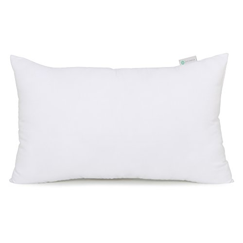 Acanva Hypo-Allergenic Pillow Insert Form Cushion Sham Stuffer, Oblong Rectangle, 12