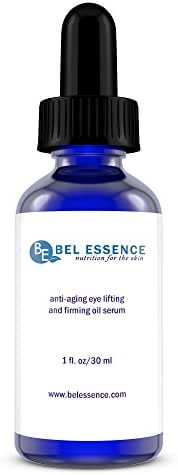 Bel Essence All Natural Anti Aging, Anti Wrinkle Under Eye Serum with Essential Oils and Rosehip Oil, Erases Fine Lines and Wrinkles and Dark Circles