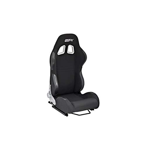 color negro Race Sport Tech-Art Asiento deportivo de tela