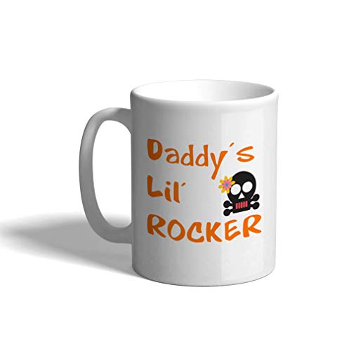 (Custom Funny Coffee Mug Coffee Cup Daddy S Lil Rocker White Ceramic Tea Cup 11 Ounces Design Only )