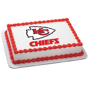 Kansas City Chiefs Licensed Edible Cake Topper (Party City Cake)