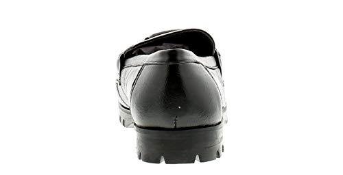 Durable Anti Mocassin Cuir Épais Suture Détail Bord Tige L'avant Sur Augmenté À Boucle Love Leather dérapant C Femmes Semelle La Style Enfiler Uni Chaussure Selle WqF1ZUHa