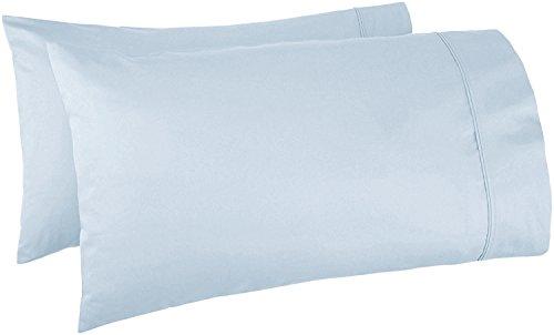 Mayfair Linen 500 Thread Count 100% Egyptian Cotton 2pc Set of Pillow Cases, Silky Soft & Durable - Standard/Queen Size -Light Blue/Sky