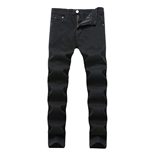 Look Uomo Slim Biker Especial Stonewashed Nero Used Distrutto Strech Jeans Denim Pantaloni Fit Estilo Casual Da vw5xXaqnEp
