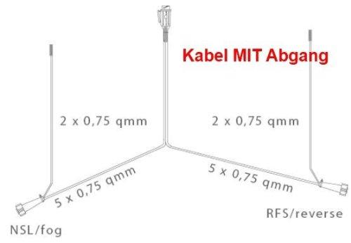 Asp/öck Multipoint 5/remolque Juego de iluminaci/ón//13/pines con cable de 5/m salida