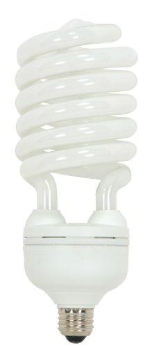 (300 Watt) 4300 Lumens Hi-Pro Spiral CFL Bright White 4100K Medium Base 120 Volt Light Bulb (Bright White Spiral Cfl Bulb)