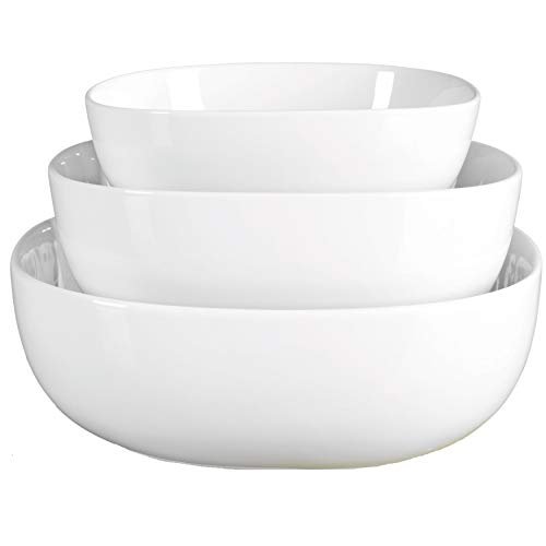 Porcelain 3 Piece Serving Bowl - Bowl Nesting Crock
