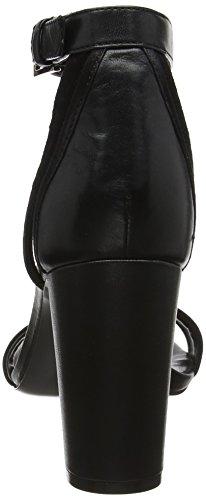 Nirmla Strap Women's West Nine Black Ankle Cu Black Sandals wzIEq