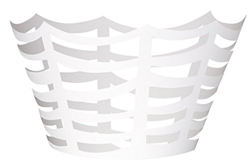 Die Cut White Spider Web Halloween Cupcake Wrappers, 12ct]()