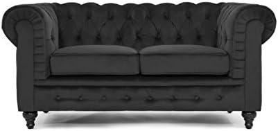 Divano Roma Furniture Classic Scroll Arm Loveseat – Velvet