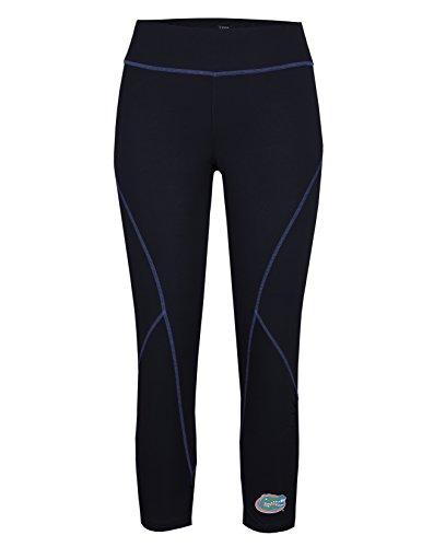 Florida Workout Pants - Tail Activewear NCAA Florida Gators Women's Capri Compression Leggings, Medium, Black/Team Royal Trim