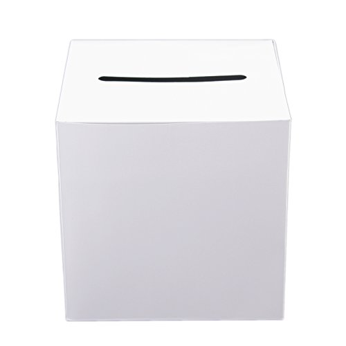 Foldable Card Box (Tytroy White Money Box Wedding Reception Decoration Wishing Well Party Favor (1 pc))