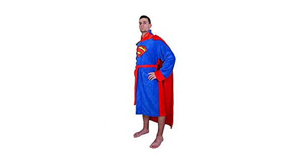 Amazon.com: DC Comics Superman Mens forro Polar albornoz ...