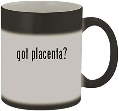 got placenta? - 11oz Color Changing Sturdy Ceramic Coffee Cup Mug, Matte Black