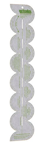 """3/4"""" Scalloped Ruler Quick Points Ruler"""