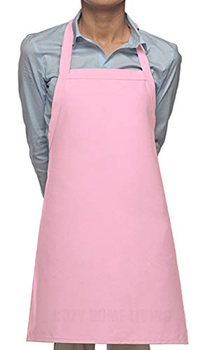 Cozy Home Living Vinyl Waterproof Apron Ultra Lightweight (1, Pink) by Cozy Home Living (Image #2)