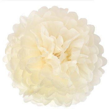 Generic Pack of 10 Ivory Cream Wedding Decorative Props Tissue Paper Pompoms Pom Poms Balls Wedding Party Home Decoration10