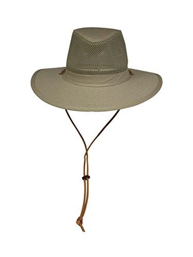 Elysiumland Unisex Safari Sun Bucket Hat With A Montana Crease and Breathable Mesh Crown - Dawstring - 100% Quik-Dry Nylon - 50 UPF-UV Sun Protection