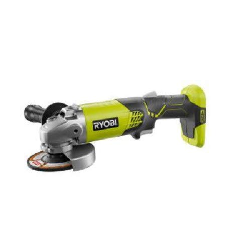 Ryobi ZRP421 ONE Plus 18V Cordless Lithium-Ion 4-1 2 in. Angle Grinder Bare Tool Renewed