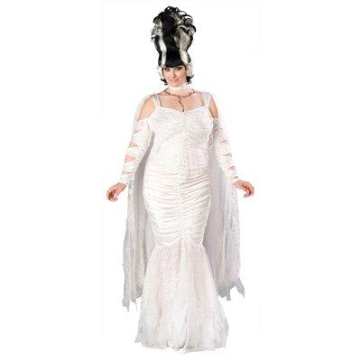 Frankenstein Bride Costume Ideas (Monster Bride Adult Costume - Plus Size 2X)