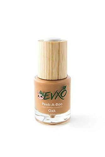 Oak Foundation - EVXO Organic Liquid Mineral Foundation - Vegan, All Natural, Gluten Free, Aloe Based, Buildable Coverage, Cruelty Free Foundation Makeup - 1 Fl Oz (Oak)