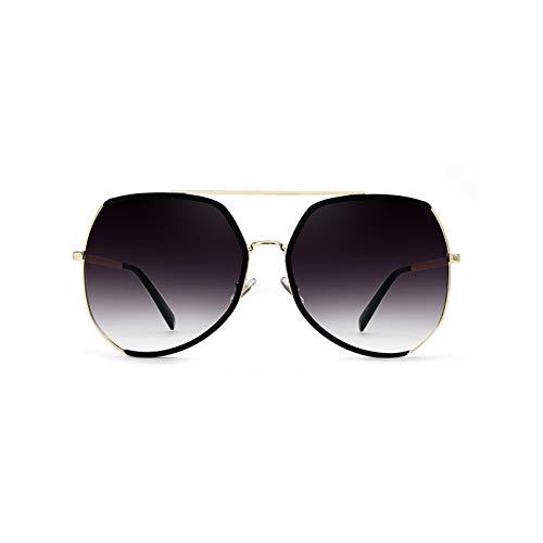 Grand Lunettes Gray polarisés de Sunglasses Verres Long Bleu Générique Couleur marée Cadre modèles Femmes Nouveau d'étoiles Soleil de Soleil Visage Rond personnalité Lunettes xEwPvwH1