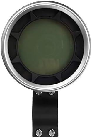 Queenwind 20000Rpmオートバイデジタルスピードメーター走行距離計タコメータートリップメーターギア1-6