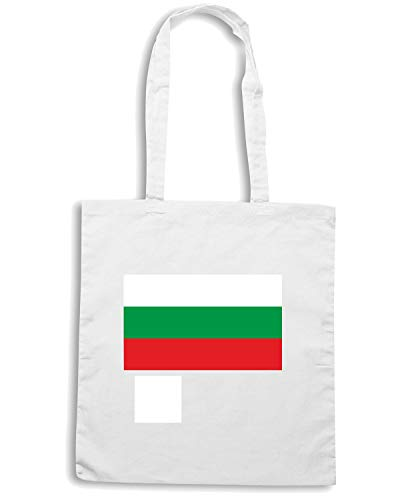 Shirt Speed BULGARIA Bianca FLAG Borsa TM0171 Shopper OFqnwrZdF