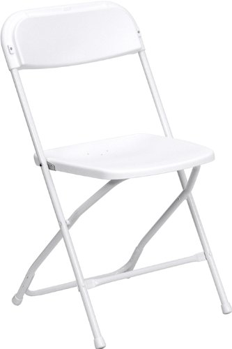 Flash Furniture 10 Pk. HERCULES Series 800 lb. Capacity Premium White Plastic Folding Chair by Flash Furniture