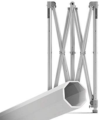 E-Z UP Endeavor Instant Shelter ENDA10KSO Heavy Duty Pop Up Canopy 10 x 10 3M 100 Sq of Shade Octagonal-Legged Aluminum Frame Orange