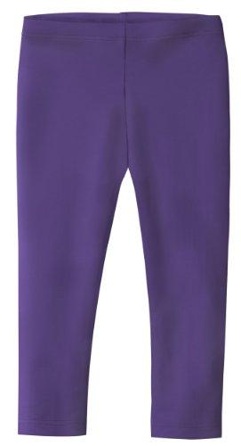 City Threads Little Girls' Cotton Cropped Capri Summer Legging for Play and School SPD for Sensitive Skin Sensory Friendly, Leggings Purple -