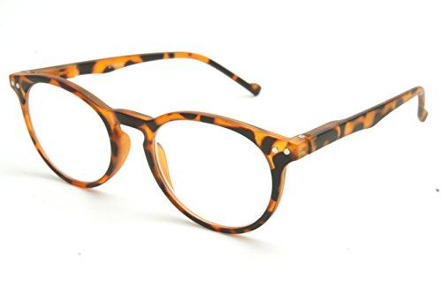 ColorViper shoolboy fullRim Lightweight Reading spring hinge Glasses Free Pouch 48mm-21mm-141mm (matte blonde tortoise, - Blonde And Tortoise